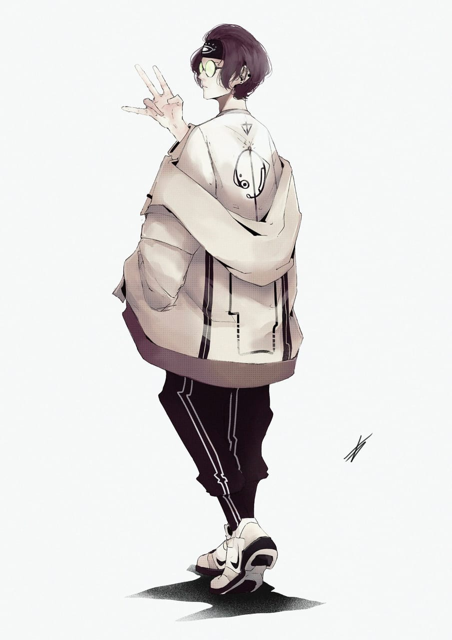 Kairu Illust of Gamousino oc anime originalcharacters boy aesthetic