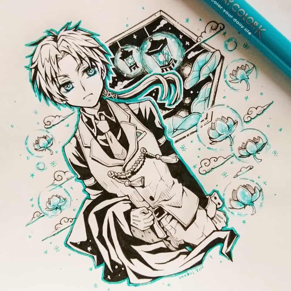 【六番の境界・茜】 Illust of yinhidaka 花子くん doodle 蒼井茜 handdrawn boy 時計守 Toilet-boundHanako-kun