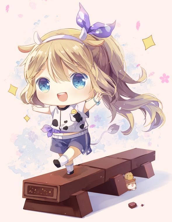 巧克力 Illust of 雲小栗 purple chibi chocolate blonde