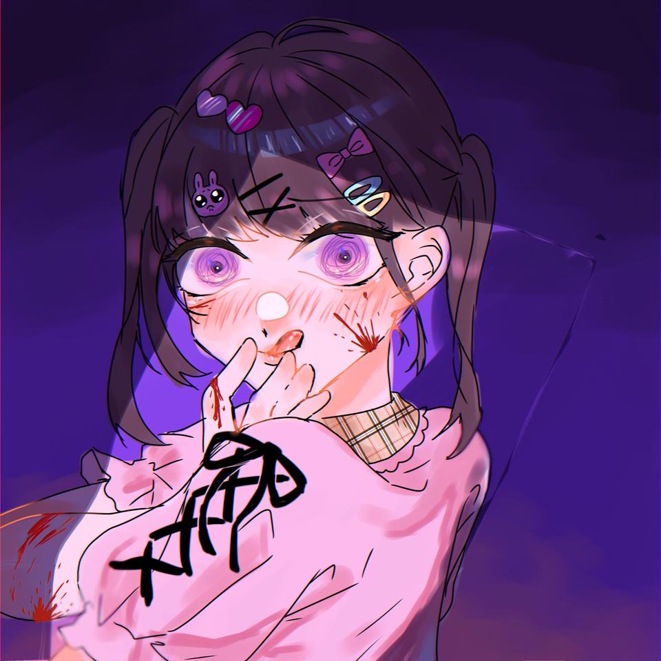 病ンデレリョウサン Illust of OHTEAOH 小5#腐女子同盟 病み Yandere kawaii girl 量産型