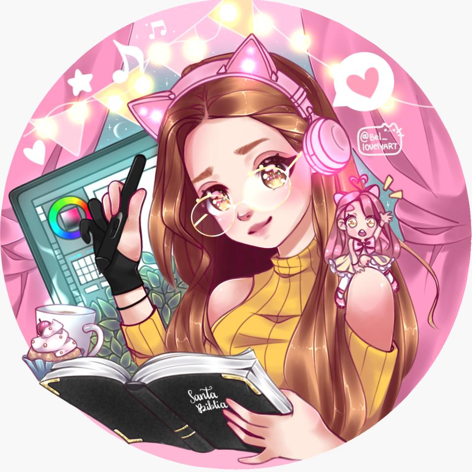 Anime Bel White my chibi Illust of @Bel_lovelyart Kyoto_Award2020_illustration medibangpaint AMZING illustration Biblia writing book chibi mangaart kawaii
