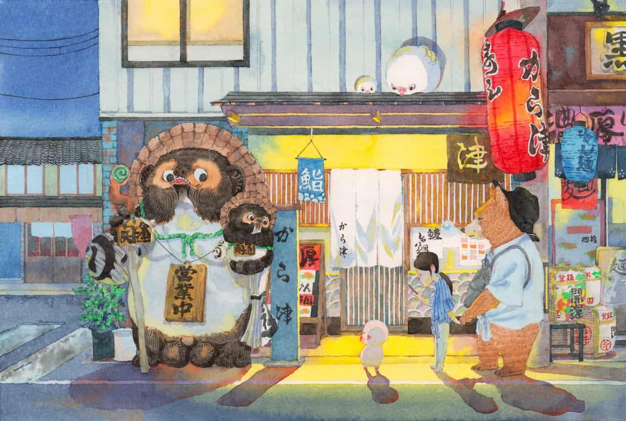 在京都的夜晚吃的寿司店