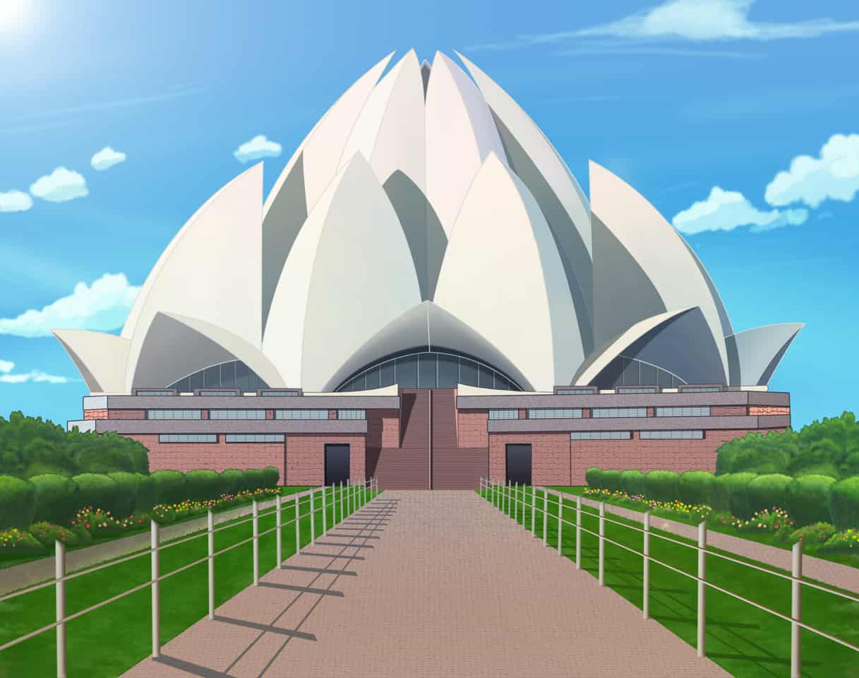 Building/Lotus Temple (india) Illust of brave john April.2020Contest:Color ARTstreet_Ranking brag.your.country color original building Indian medibangpaint temple