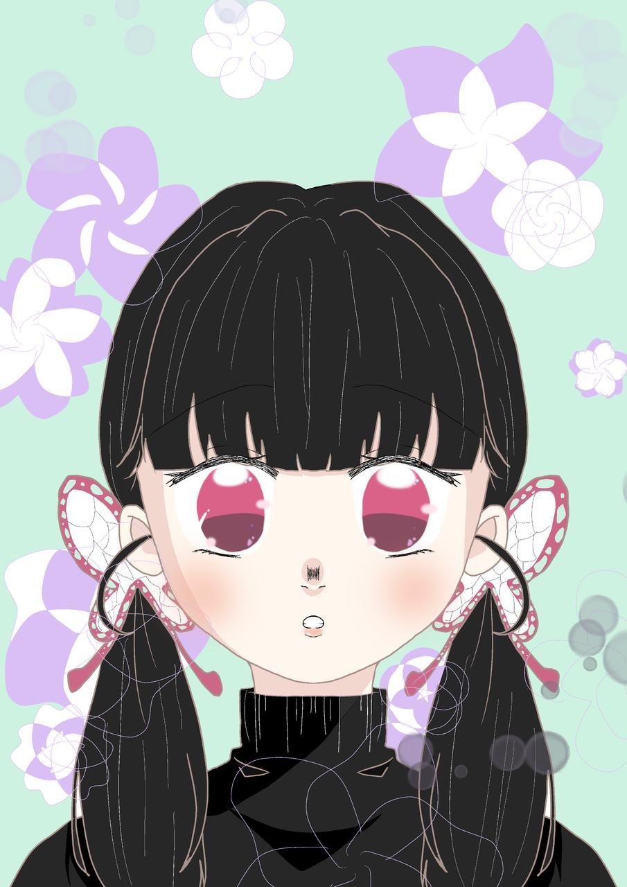 カナヲちゃん二つ結び‼︎✨ Illust of ぽっきー medibangpaint