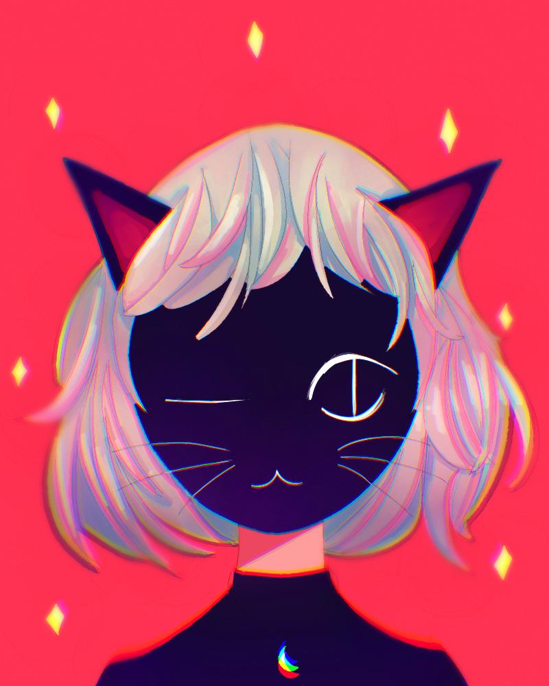 wink wink Illust of monrura medibangpaint Kitty