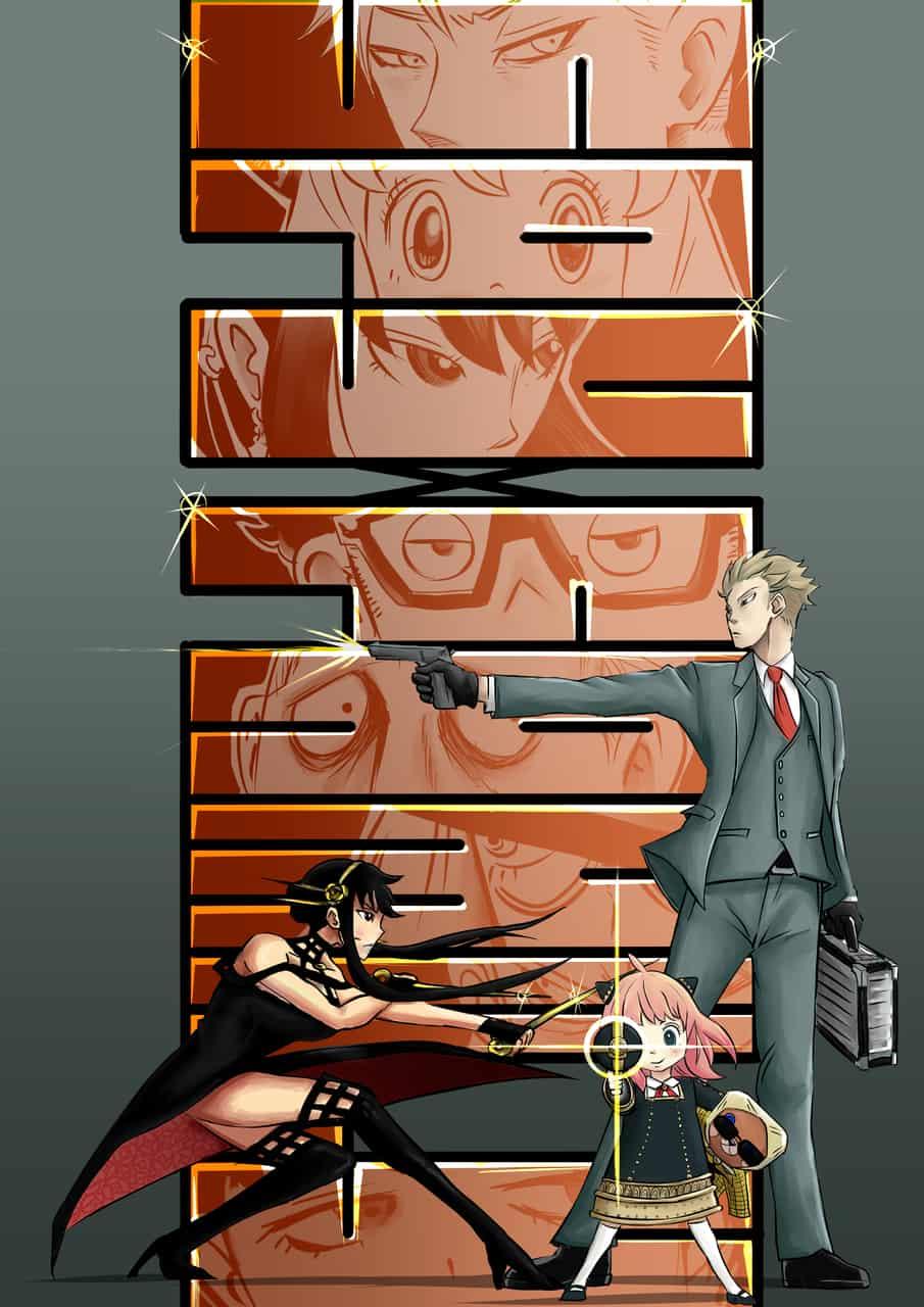 """spy family  """"KA・MA・E"""" Illust of Naoki.T SPY×FAMILY_Contest SPY×FAMILY"""