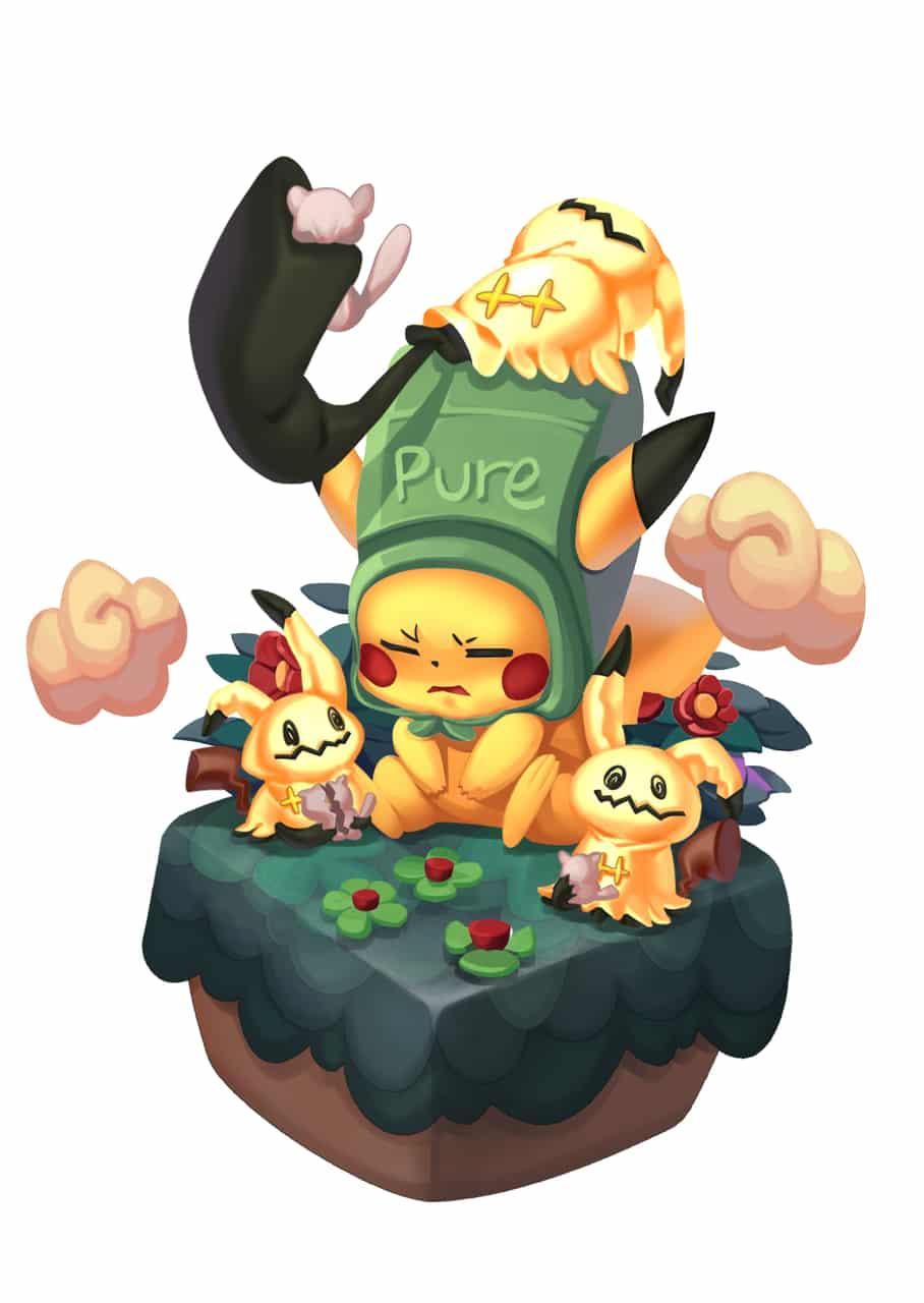 pikachu~ Illust of Mei 糖果 candy 謎擬Q Pikachu
