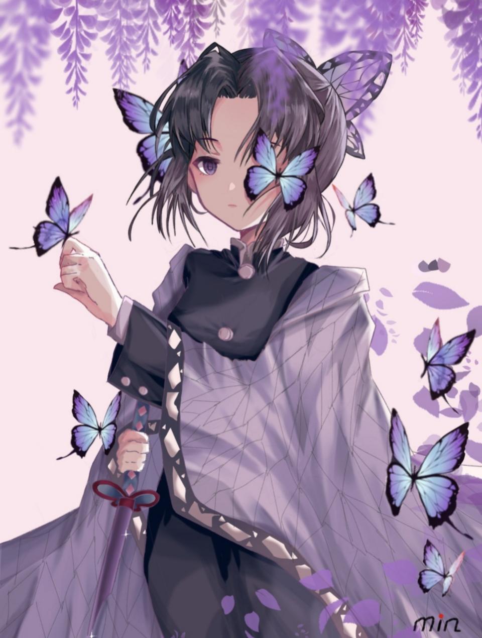 摸鱼 Illust of Minako medibangpaint KochouShinobu KimetsunoYaiba