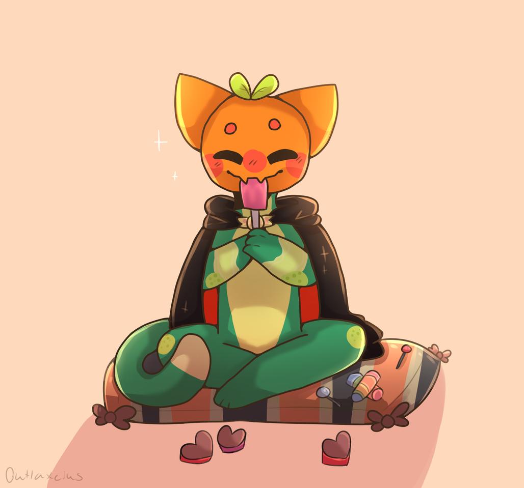 Request from •♬• sᴏᴄᴋ-ʙᴀɪᴛ™ •♬•. Skye Illust of Outlaxieus cat original
