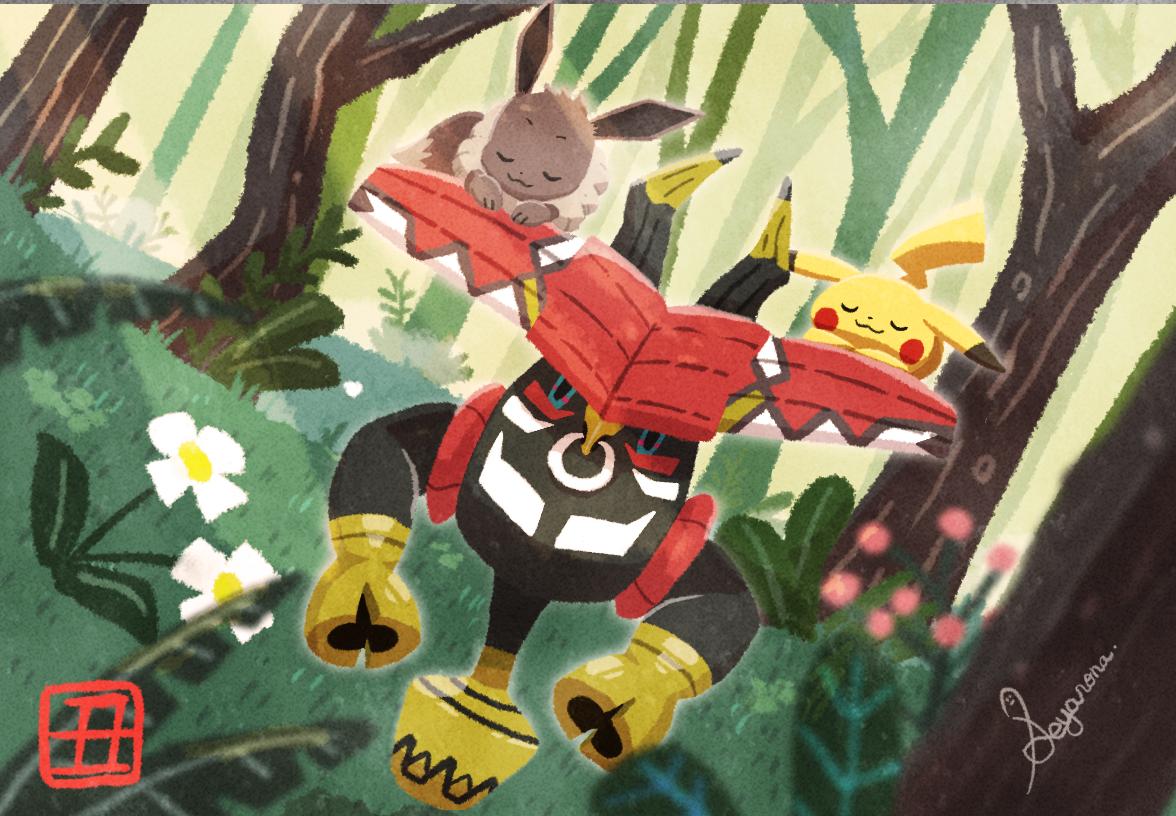 Happy New Year 2021 Tapu bulu  Illust of SEYA67 game fanart medibangpaint illustration pokemon
