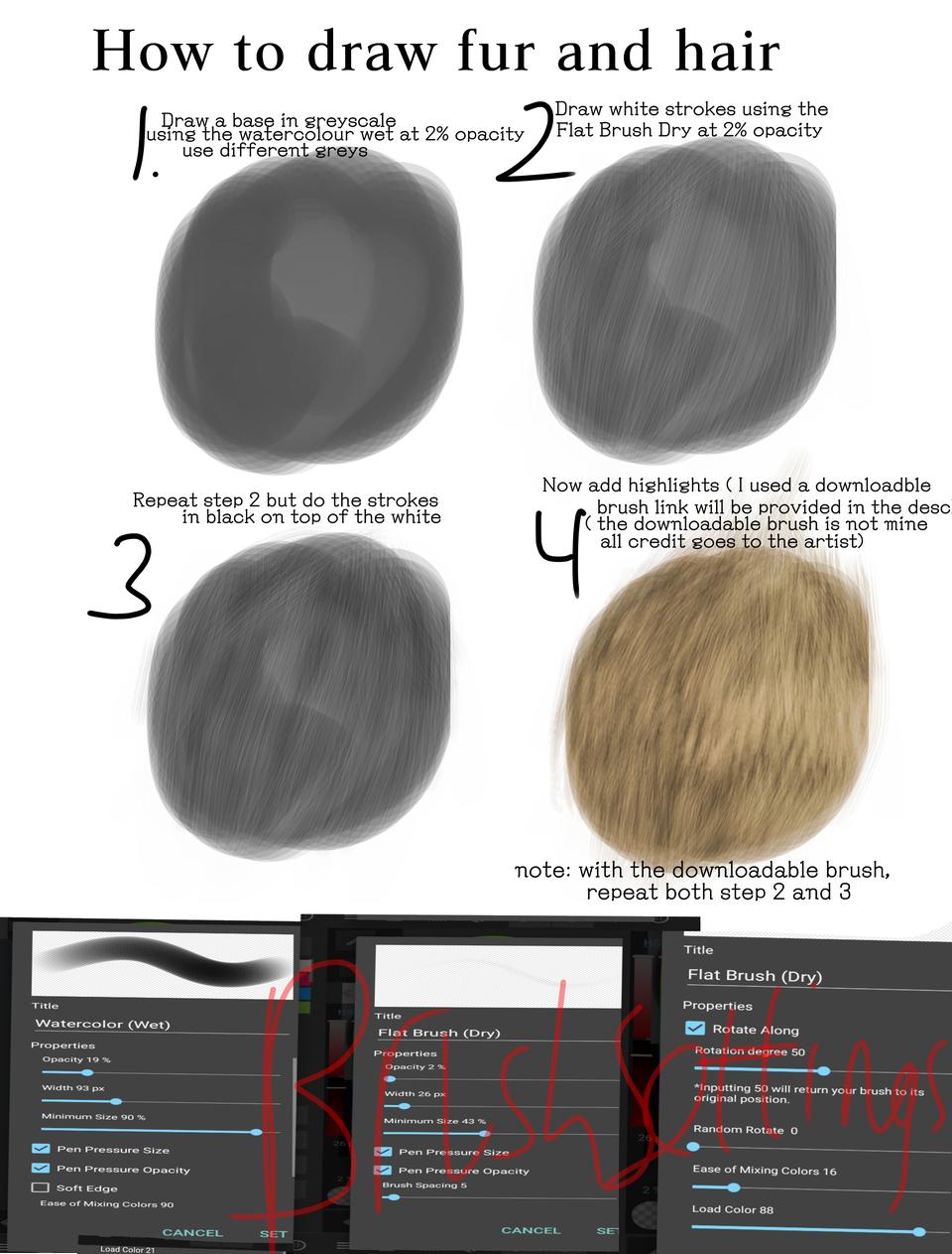 Fur And Hair Tutorial Patchit Illustrations Medibang