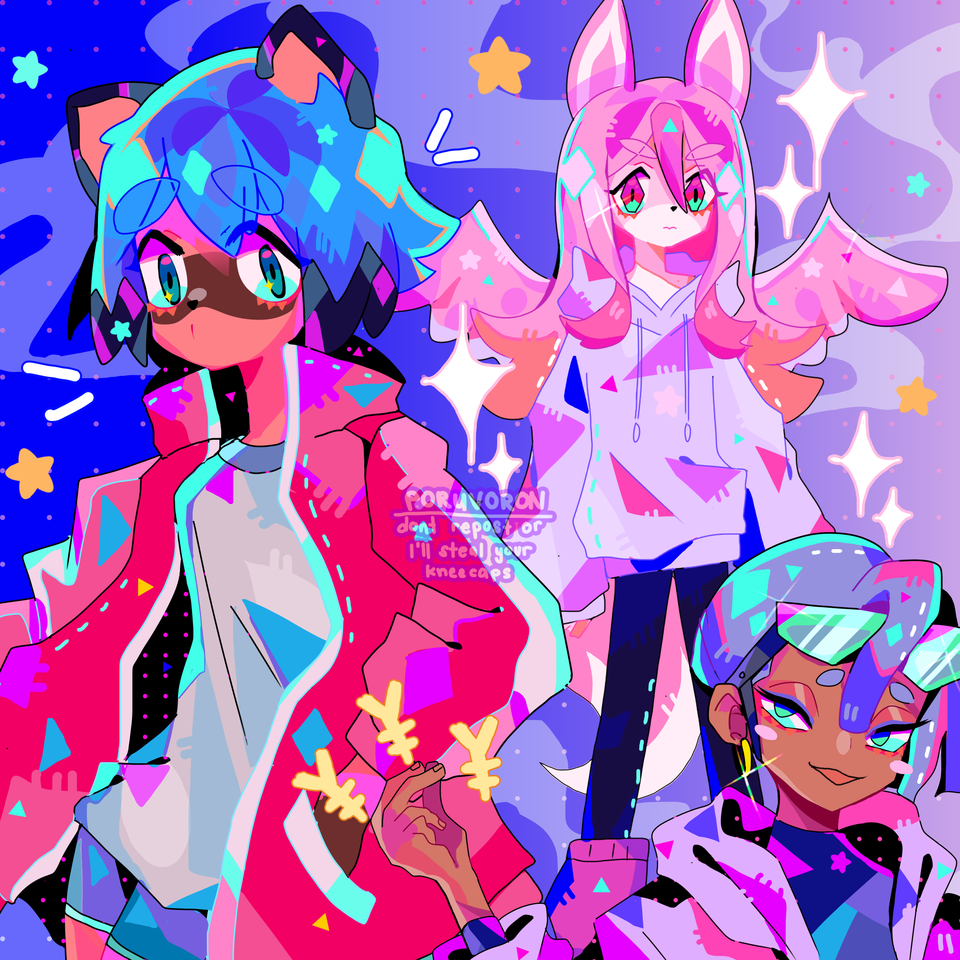 girls~!  Illust of poruvoron BNA:BrandNewAnimal neon BNAビー・エヌ・エー aesthetic