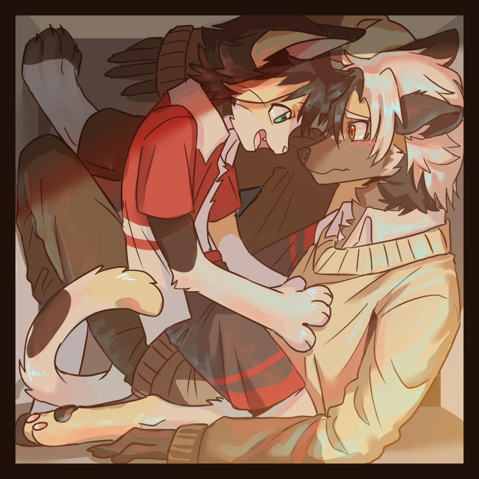 箱子 Illust of 神川紀也 September2020_Contest:Furry dog 獣人 oc cat furry