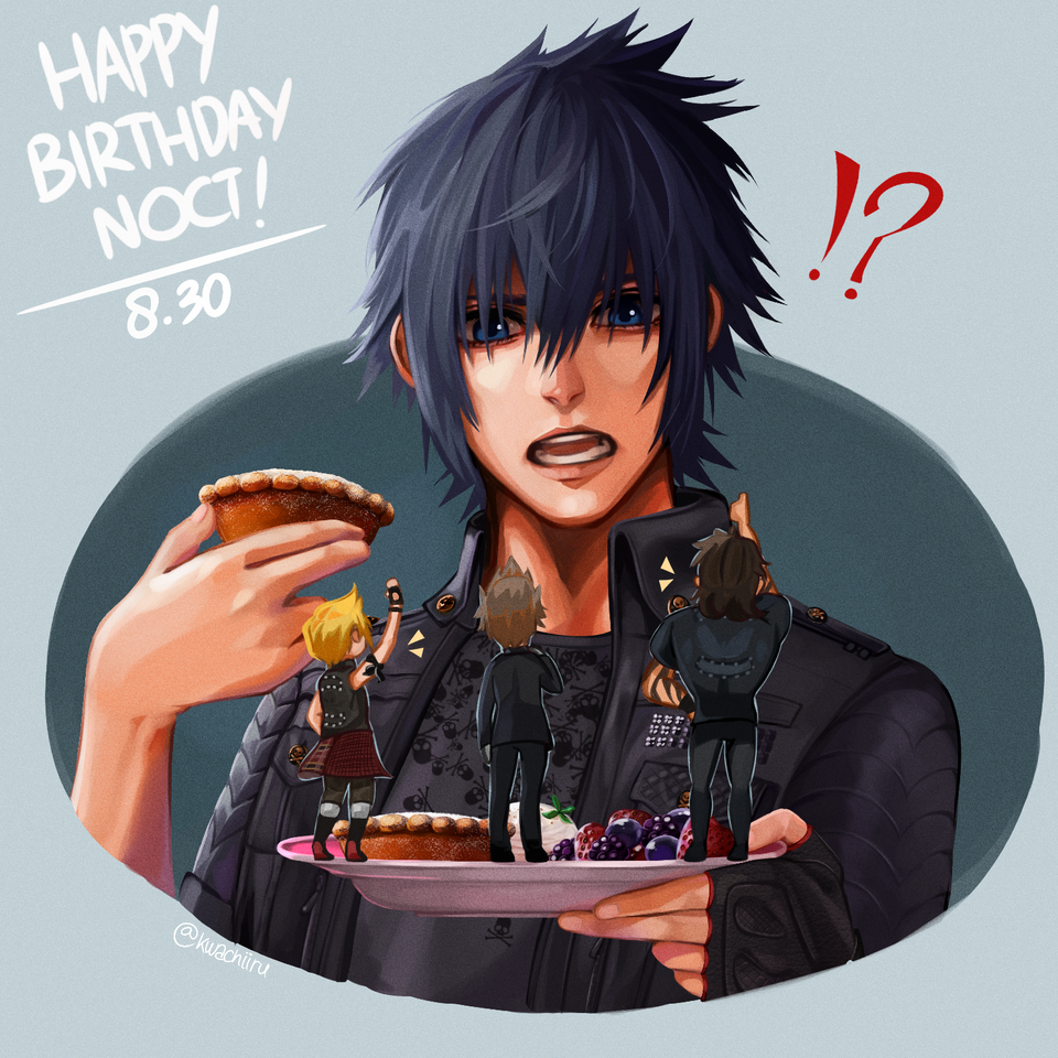 Happy Birthday, Noctoo! Illust of kwachiiru FF15 FINAL_FANTASY FFXV ファイナルファンタジー15 Noctis ファイナルファンタジーXV FinalFantasyXV