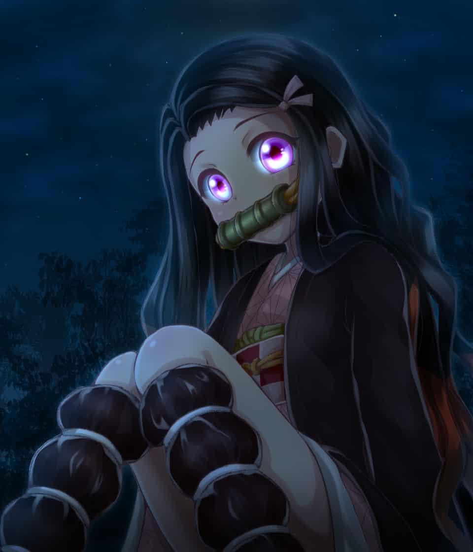 禰豆子 Illust of 光里 DemonSlayerFanartContest night girl KimetsunoYaiba 鬼 KamadoNezuko