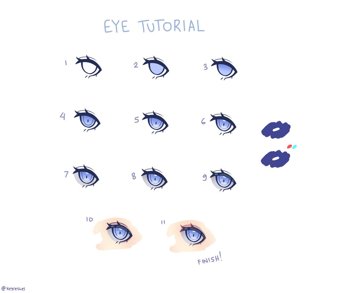 tutorial (3) bored stay at home :/ Illust of Keyreshel medibangpaint 目イキング tutorial