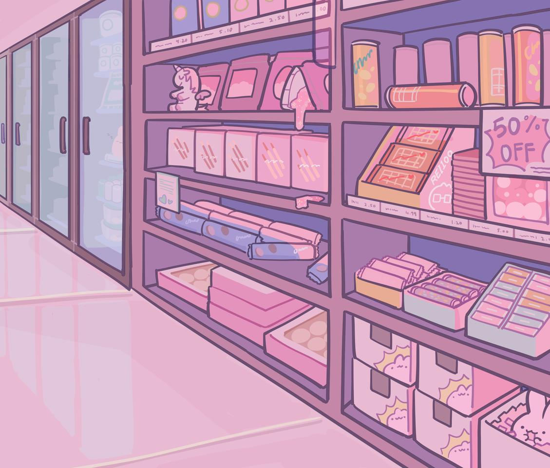 OC 3 Illust of rei1OO original illustration oc pink