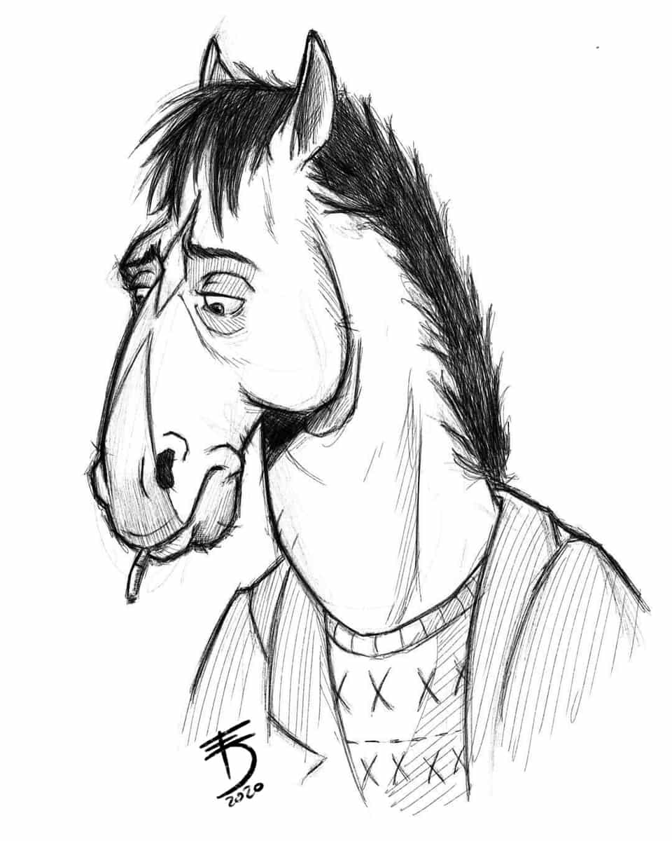 Bojack horseman  Illust of Derwelt sketch iPad_raffle animal Medibang medibang art fanart Artwork artist medibangpaint
