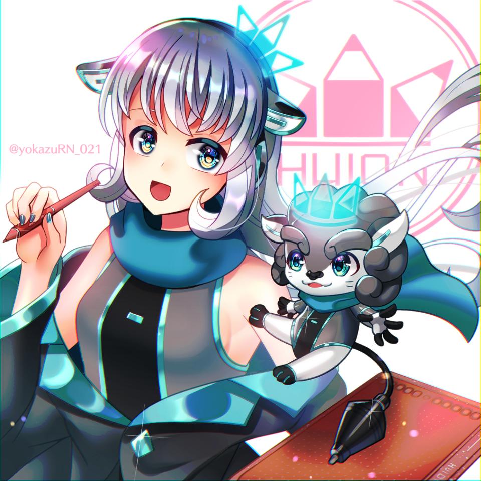 HUION Illust of 夜和 art girl HS611 イメージキャラクター fanart HUION