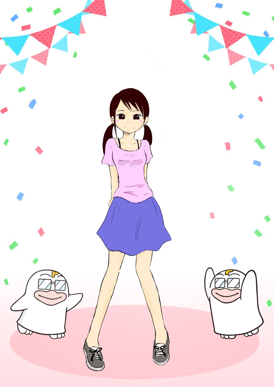 今日は何する? Illust of くろ PICO公式キャラクターPICOQガールフレンド大募集!!コンテスト oc twin_ponytails girl