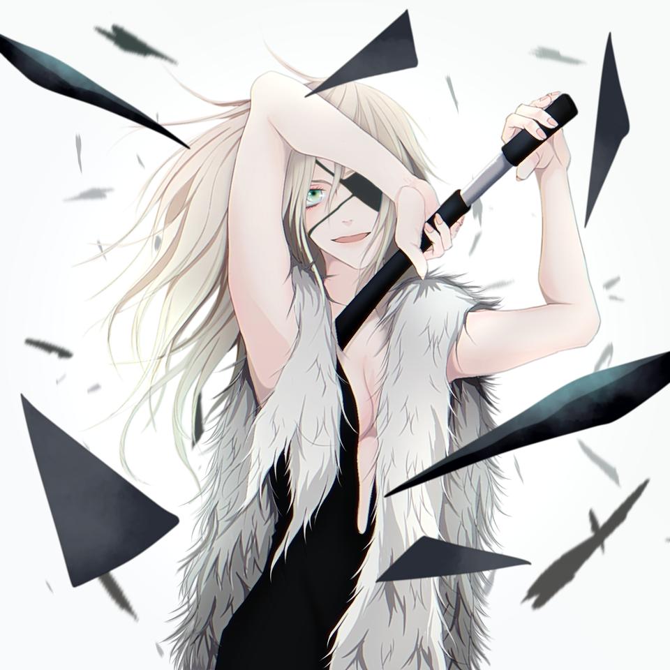 無題 Illust of TERRA oc シンプル ファー eyepatch dress blonde ドス 女性キャラ