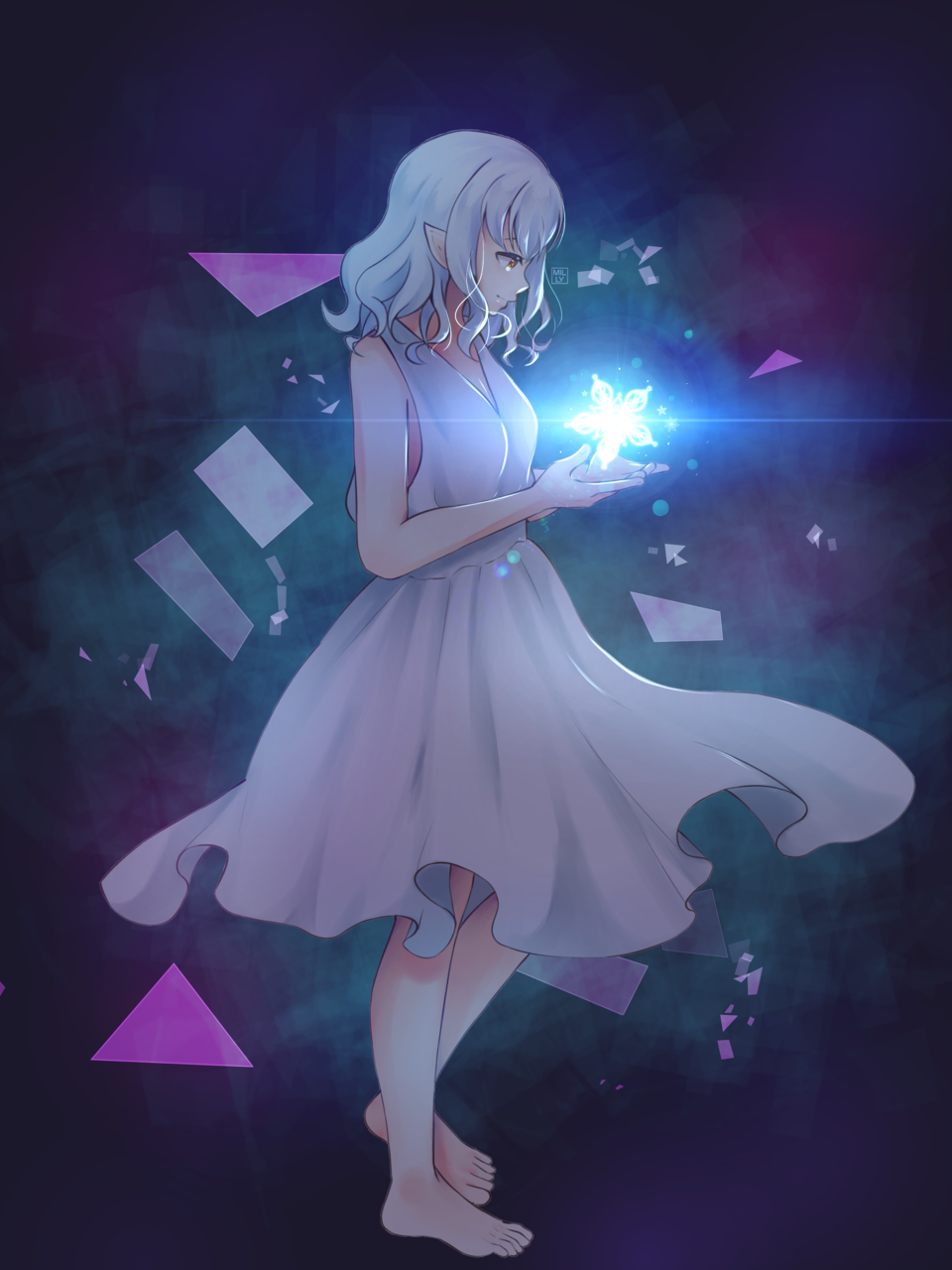 Blanche Illust of Milly Rainsworth elfgirl animeart Oc's
