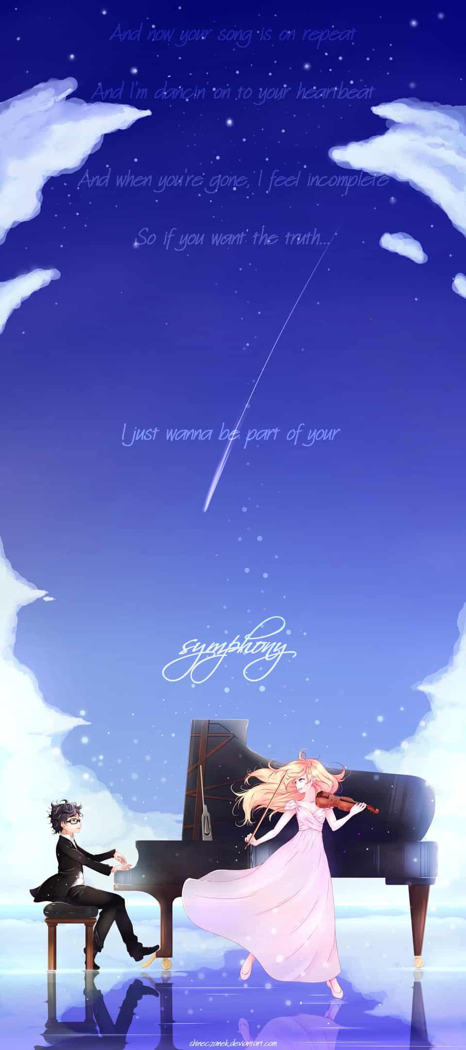 I just wanna be part of your symphony! Illust of Czanek kimi anime kousei Shigatsu kaori no uso wa