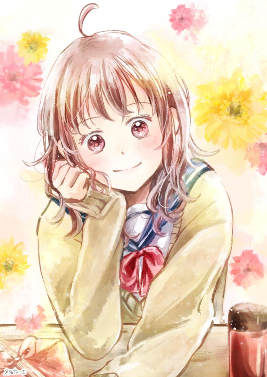 花咲く Illust of 月名なつき original 高校生 sailor_uniform girl