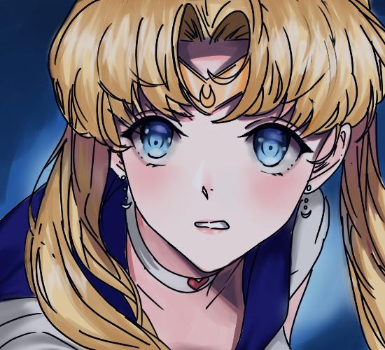 Sailormoon redraw Illust of Emaan kawaii girl PrettyGuardianSailorMoon blue