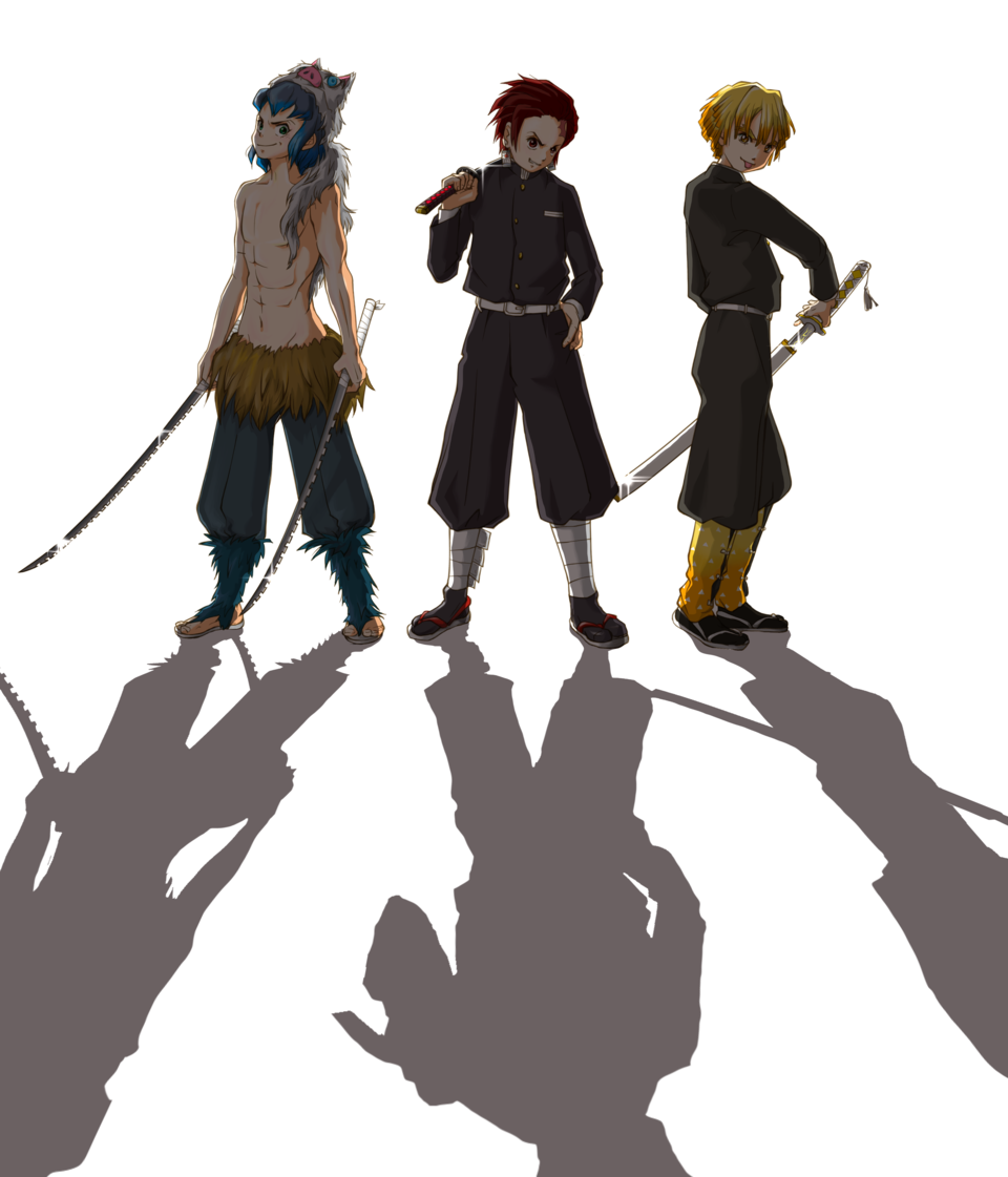 「……かかってこいよ」 Illust of こも DemonSlayerFanartContest かまぼこ隊 AgatsumaZenitsu HashibiraInosuke KamadoTanjirou