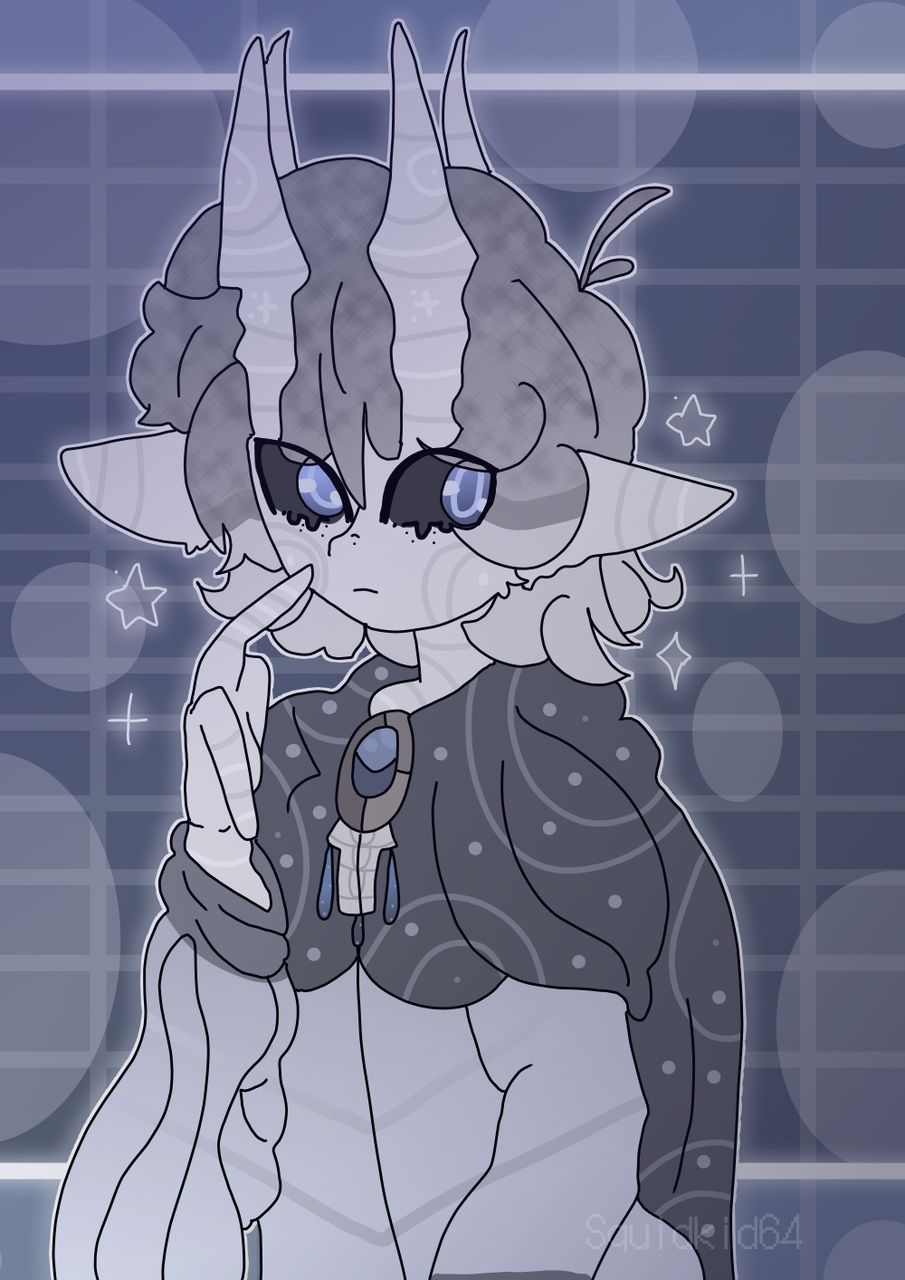 I redesigned Lyght Illust of Squidkid64 medibangpaint oc cute Hollow_Knight