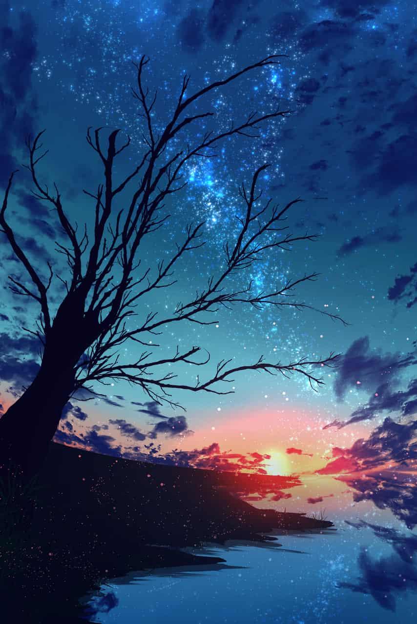 No name sky Illust of ツチヤ ARTstreet_Ranking starry_sky 夜空