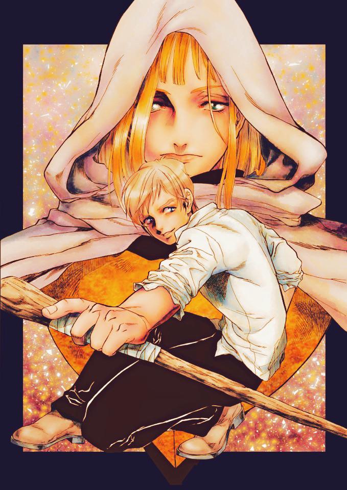 신의 지팡이-神の杖 Illust of Younanoa fantasy wizard 오리지널