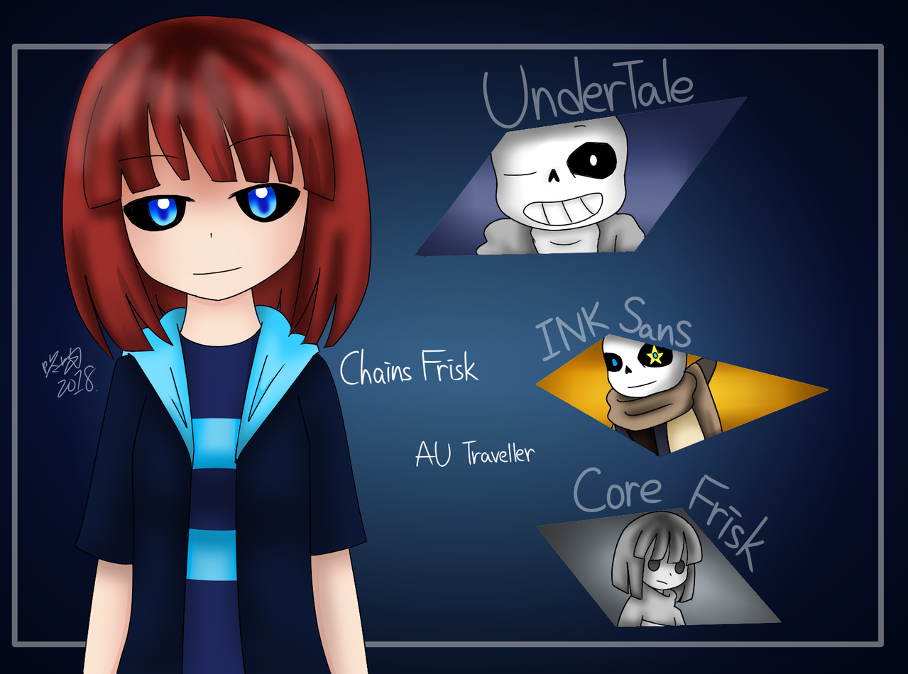 Undertale Auchains Frisk The Au 咚吱 イラスト アート