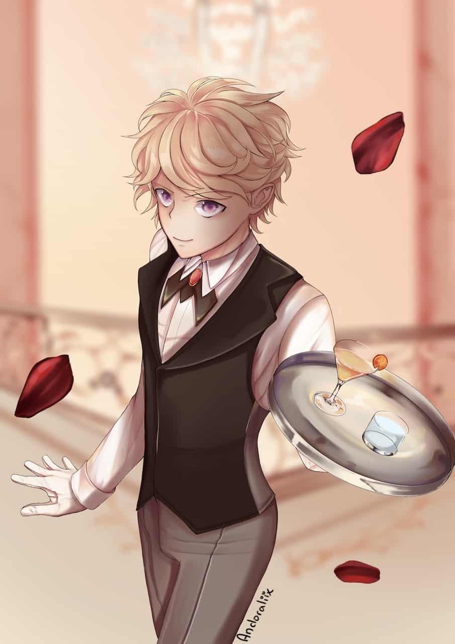 Garçon de café Illust of Andoraliix animeboy art élégance elegant medibang waiter