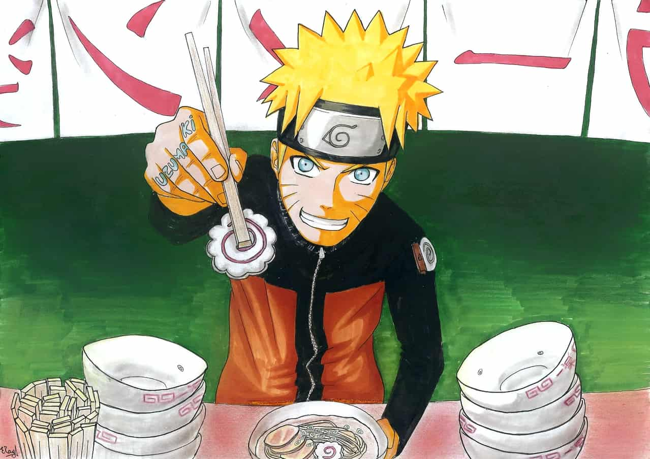 Naruto eating a... naruto !