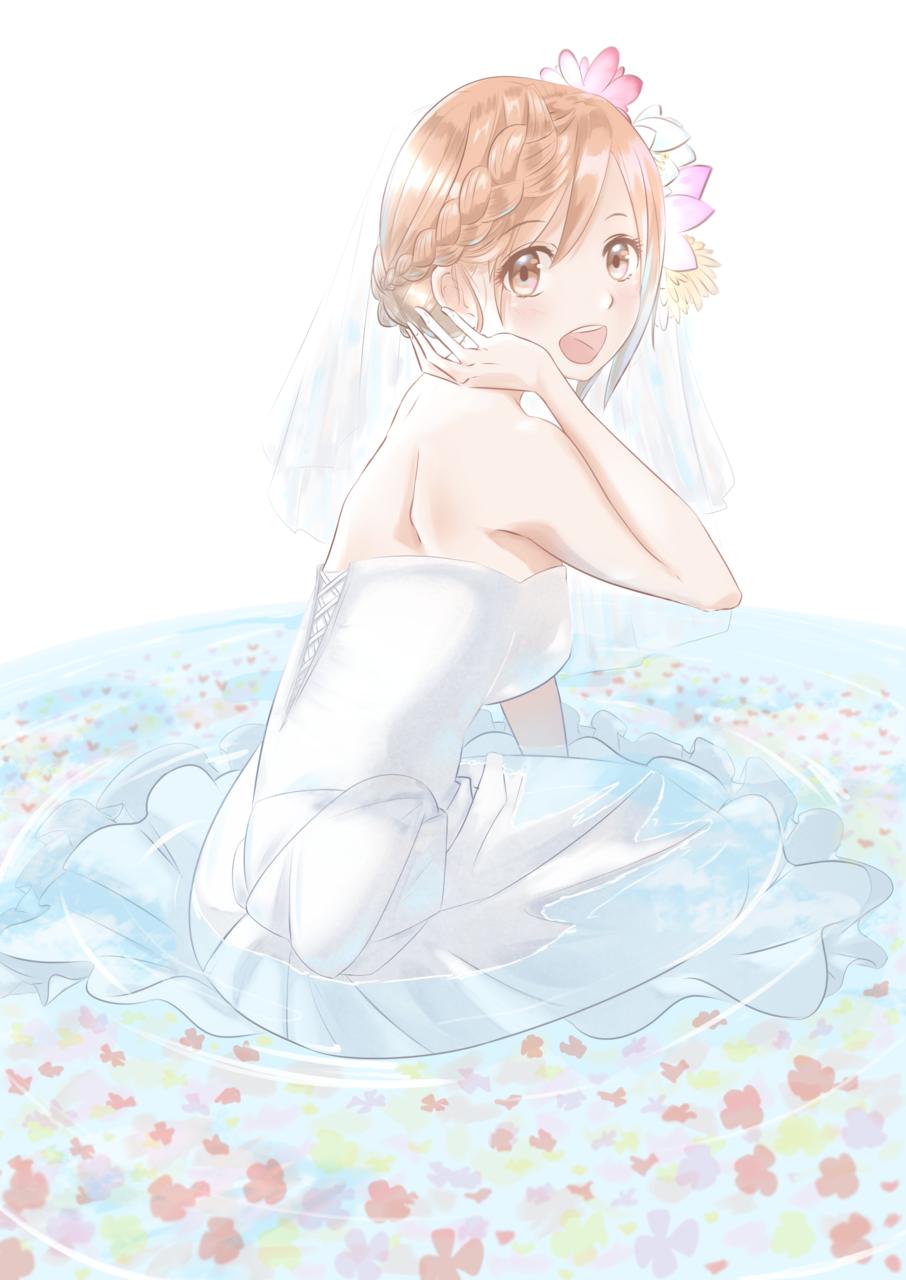 花嫁ちゃん Illust of あやがたひまり oc girl ウエディングドレス original bride