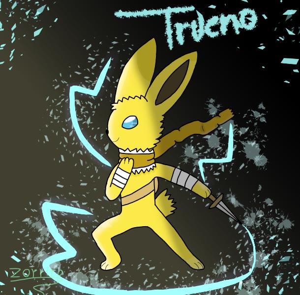 me amigo jolteon trueno trabjo de zorrito y shu Illust of meowstic zorrito legendario medibangpaint furry Jolteon pokemon zorritolegendario