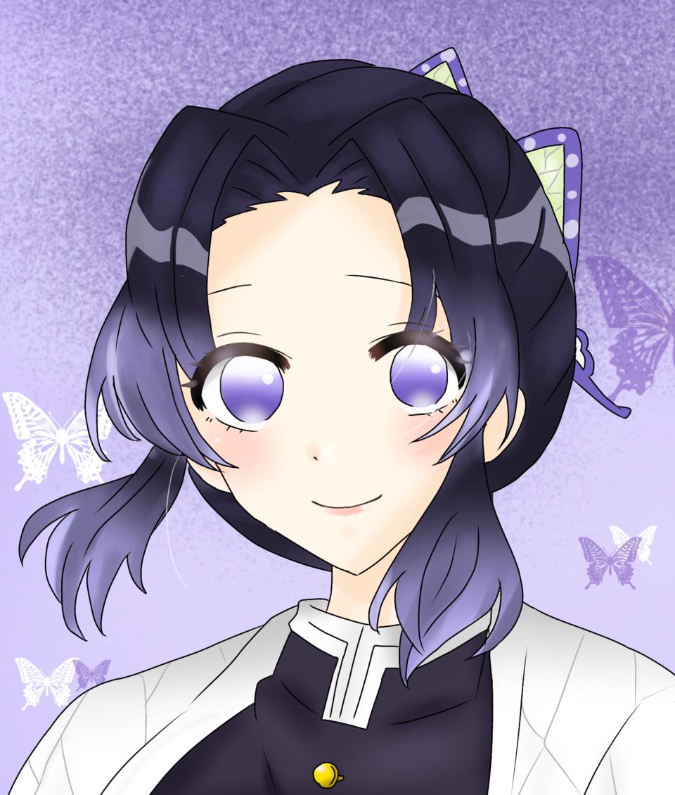 しのぶさん Illust of ひよこ豆🍘🍡 KimetsunoYaiba illustration KochouShinobu butterfly 描き溜め