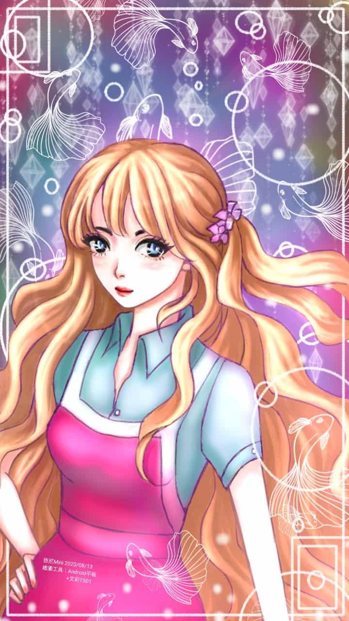 圖:2020/08/13 隨意畫+簡單上色  #可連結Android的繪圖板  Illust of cchenju(迷尼Mini) MyIdealWaifu MyIdealWaifu_MyIdealHusbandoContest illustration 女子高生 電繪 original girl cute