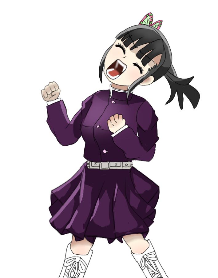 叫び Illust of くまちゃん anime girl TsuyuriKanao 拡散希望 digital illustration いいねしてくれると😃 KimetsunoYaiba kawaii