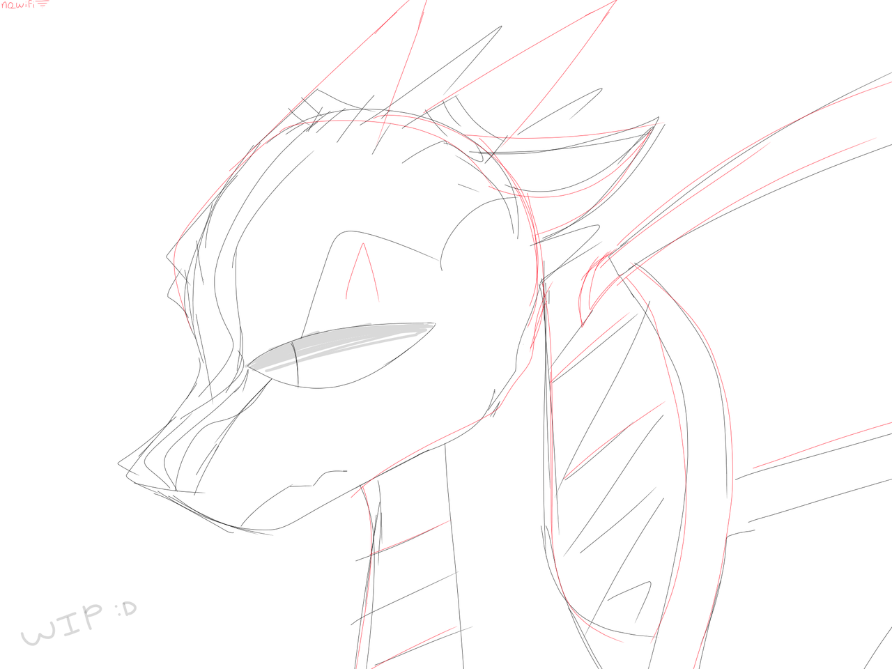 another wip, this time a dragon :0 Illust of RiiRen medibangpaint