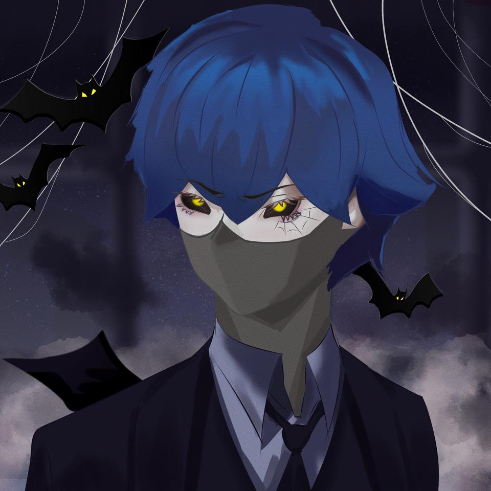 Kyūketsuki Illust of NridE oc medibangpaint Kyūketsuki black boy vampire