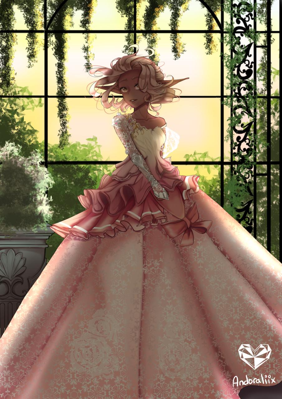 Princesse des Jardins Illust of Andoraliix elf girl princess anime dress