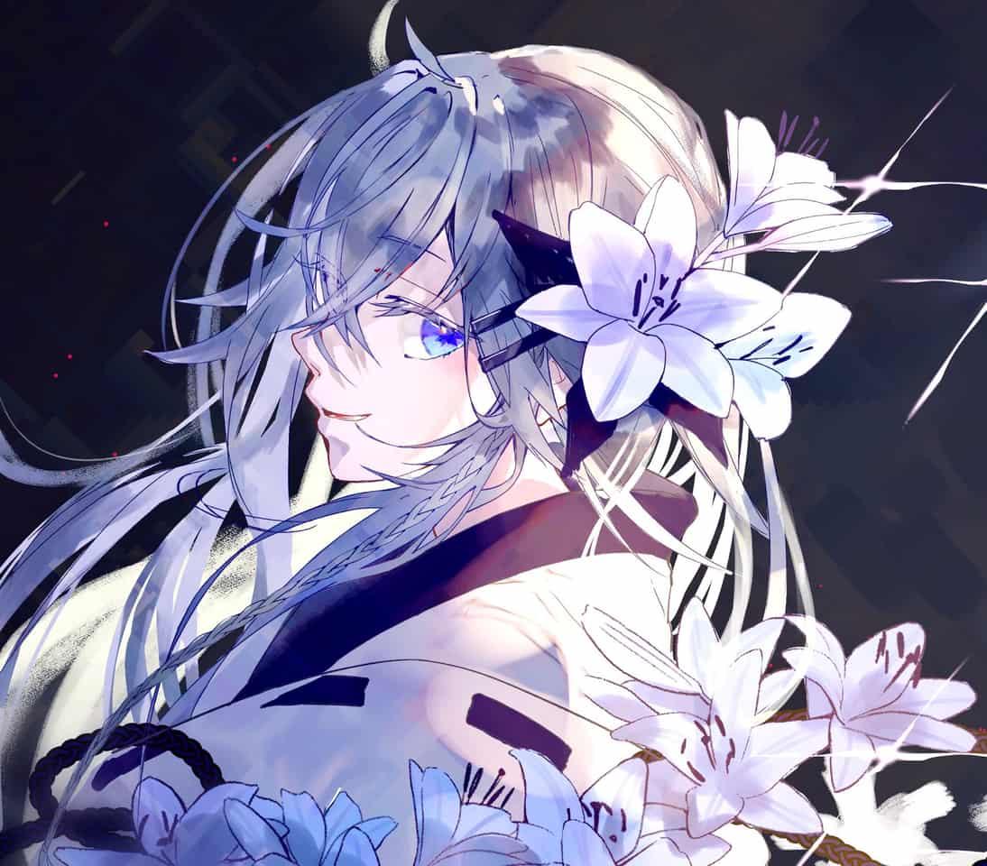 Lily  Illust of Comuno white_hair flower girl 銀髪