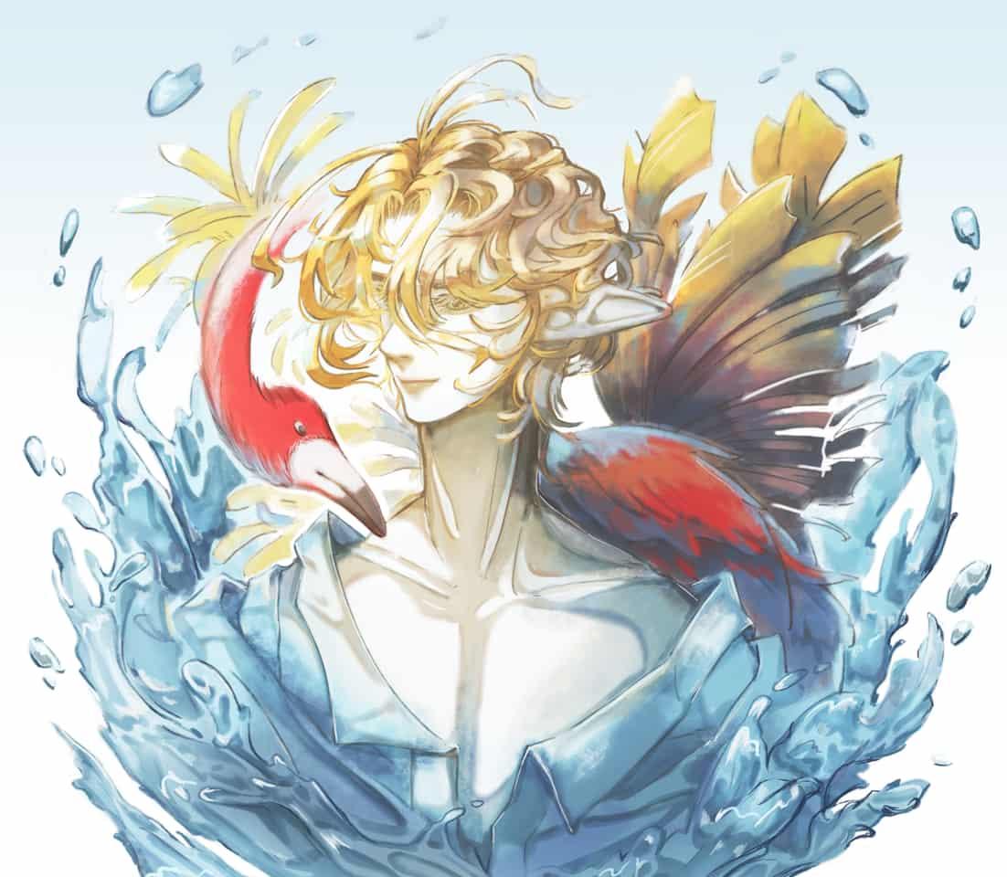 SUMMER(´・ω・)…。oо○ Illust of Sago original summer water 男