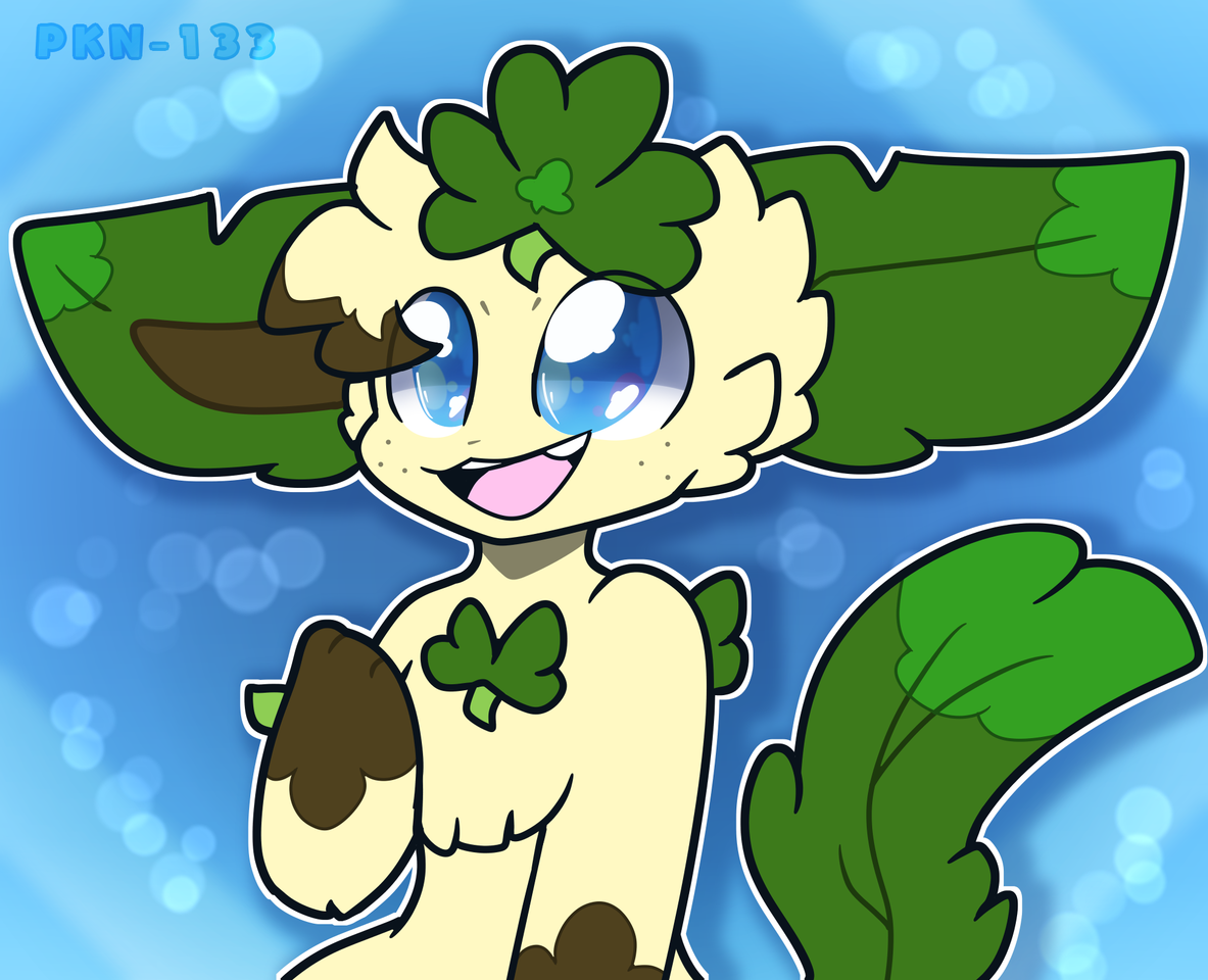 Arrttt dumpp Illust of ✨ PKN-133 ✨ oc PKN-133 cute Flareon Eevee pokemon digital leafeon eeveelution furry