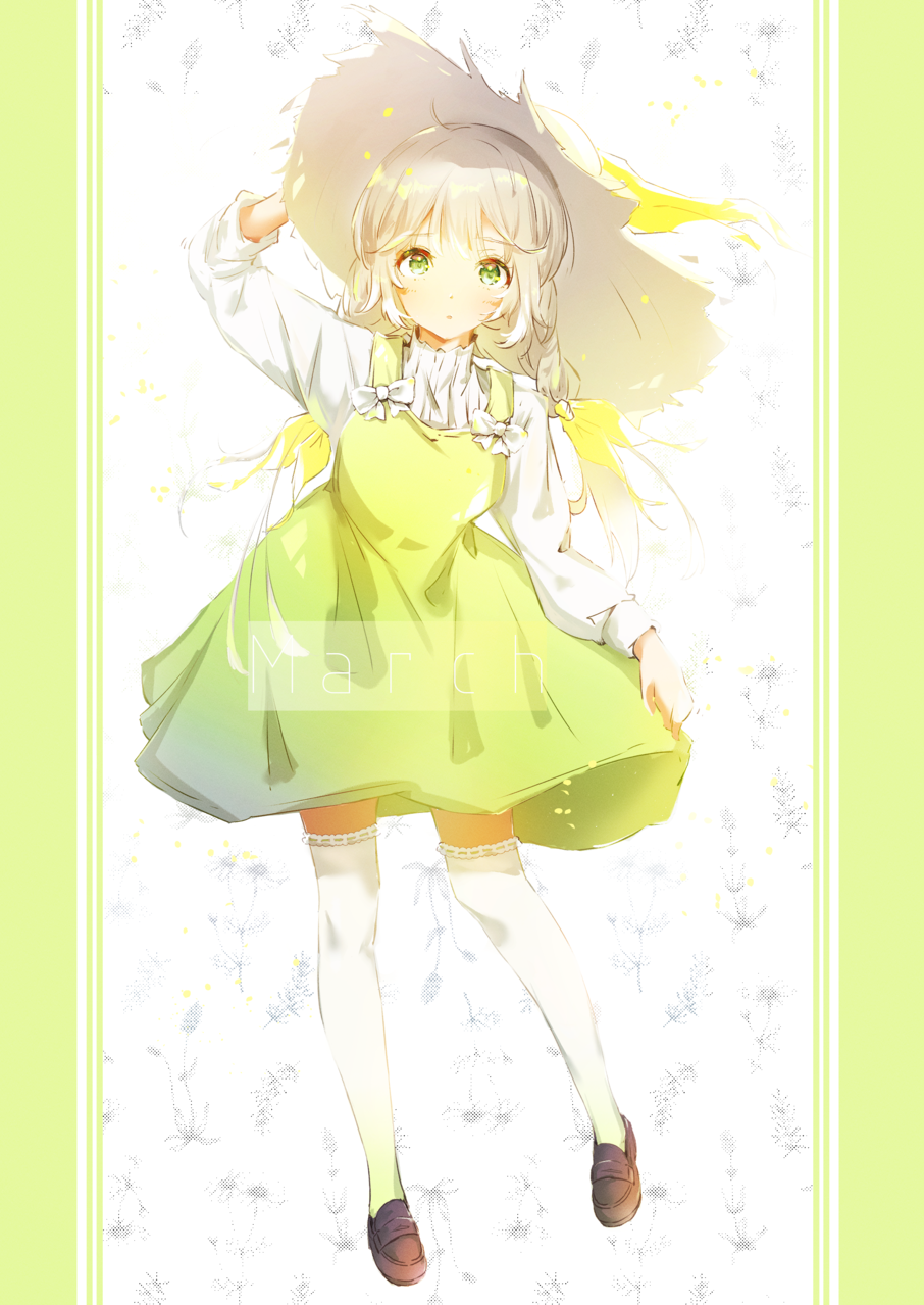 March Illust of みずき@ミッキー kawaii girl 帽子