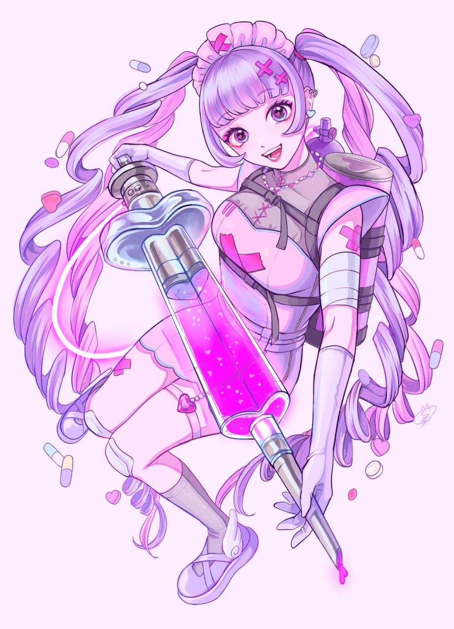 shot♡ Illust of しずか illustration 魔法少女 ナース pink girl ゆめかわいい original