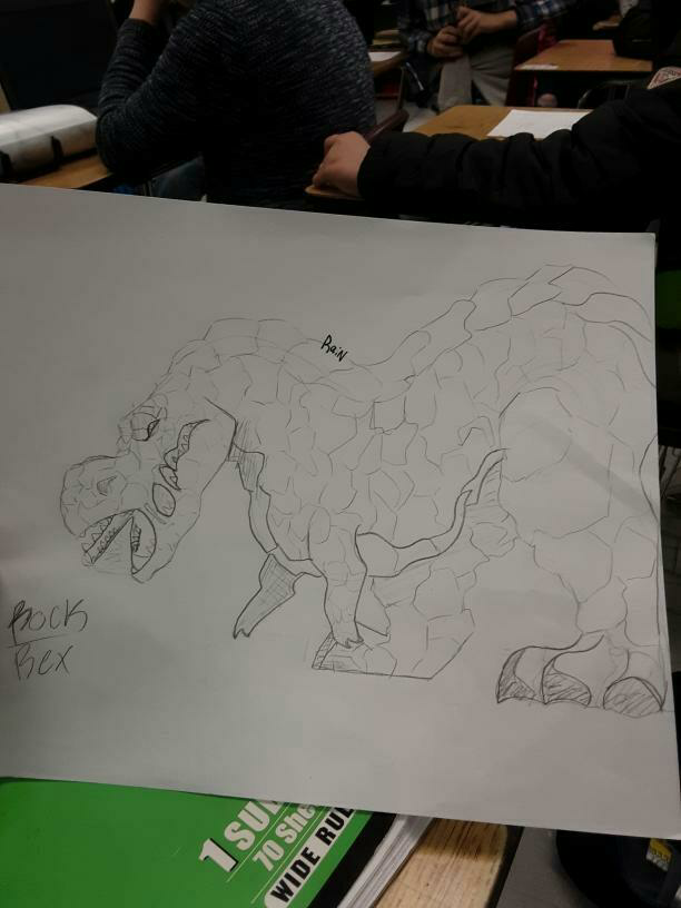 My Rock Rex Illust of Big Yeen medibangpaint Elemental T-rex Dinosaur